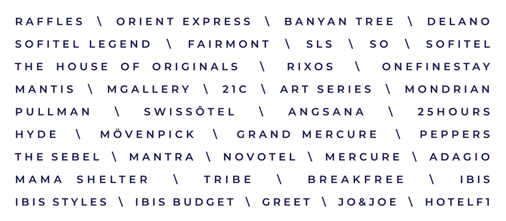 List of Accor Brands
